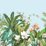 tropical floral wallpaper mural