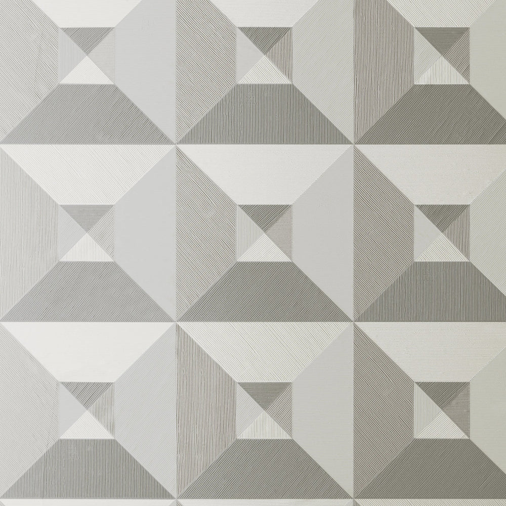 3D vinyl geometric wallpaper