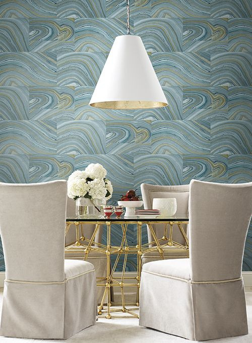 chic dining room wall