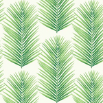 Geometric palm leaf wallpaper