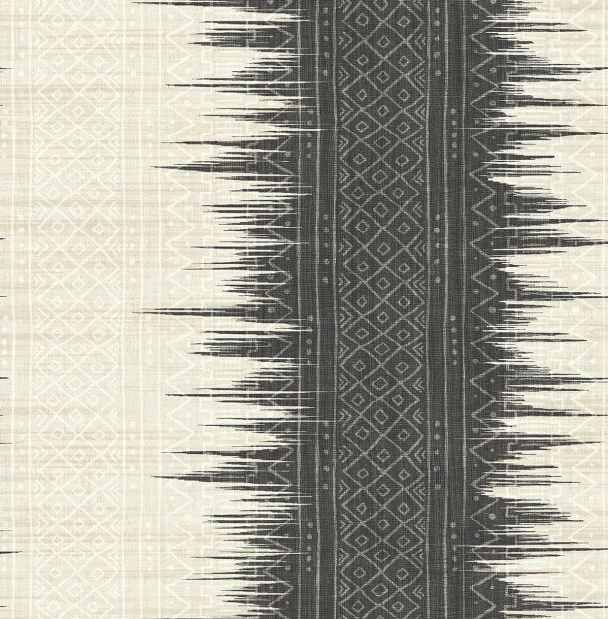 black and white ikat wallpaper