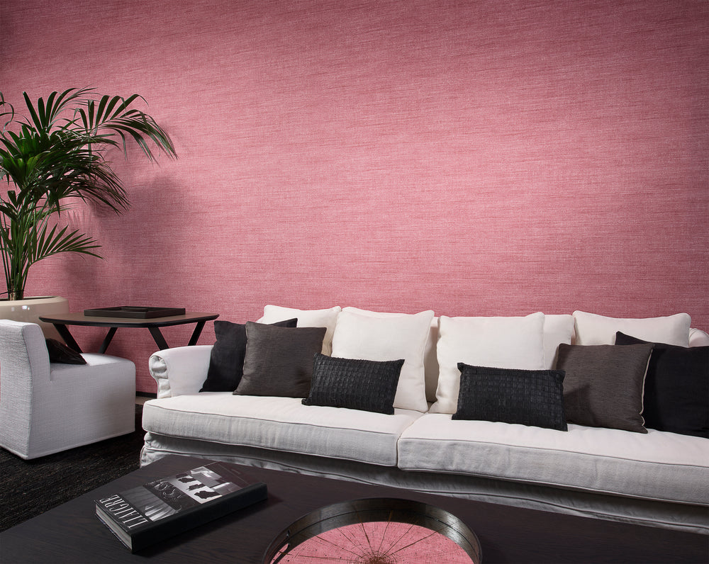 rose linen like chic wallpaper