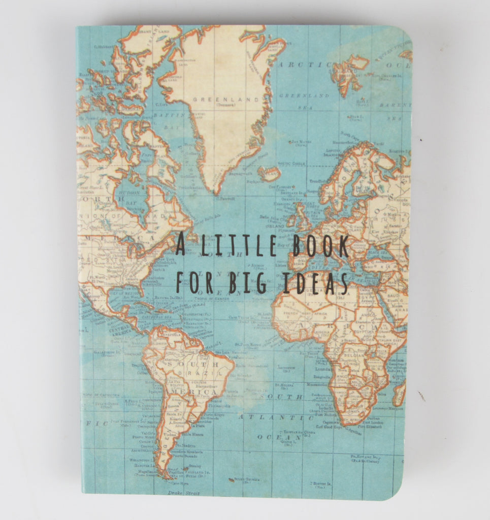 Vintage map big ideas notebook dusk furniture vintage map big ideas notebook gumiabroncs Choice Image