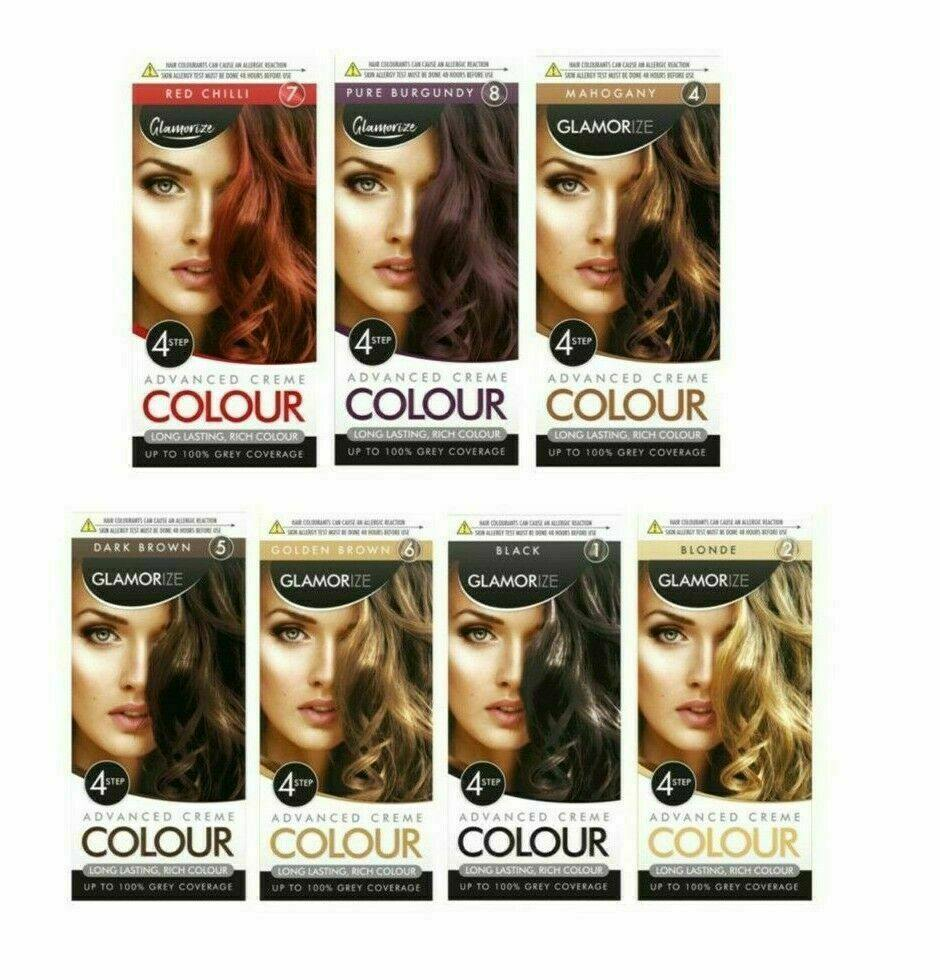 Glamorize Advanced Creme Colour 4 Step Permanent Hair Dye Shade For Ladies - Manortel