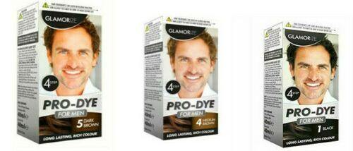 GLAMORIZE Pro Dye Permanent Mens Hair Colour in Shade 1,4 & 5 Black & Brown - Manortel