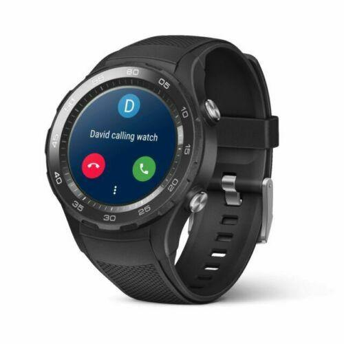 Huawei Watch 2 45mm Black Plastic Case Black Rubber Sport Strap GRADED - Manortel