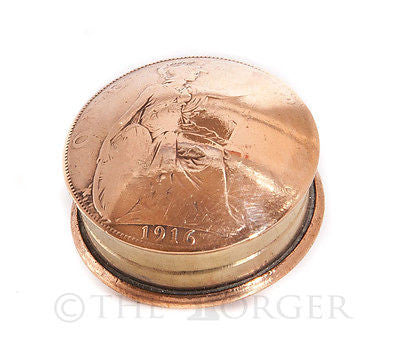 British King George V Penny Screw Lid Snuff Box / Pill Box / Keepsake / Gift - The Forger - 1