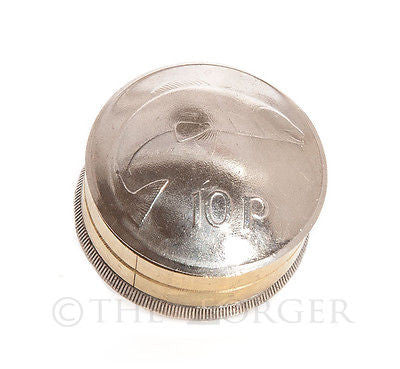 Irish Ten Pence Coin Screw Lid Snuff Box / Pill Box / Keepsake / Gift - The Forger - 1