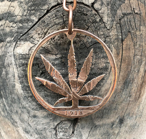 Hemp Leaf - Cut Coin - The Forger