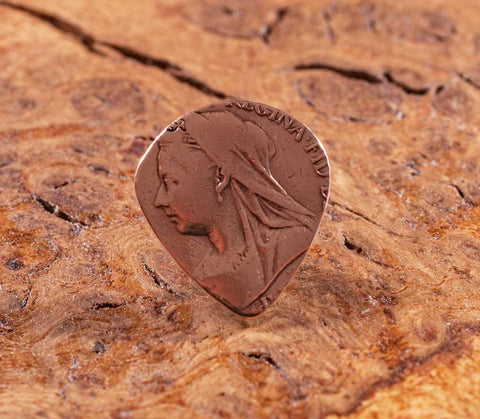 Queen Victoria British Penny Coin guitar pick / coin plectrum - The Forger - 1
