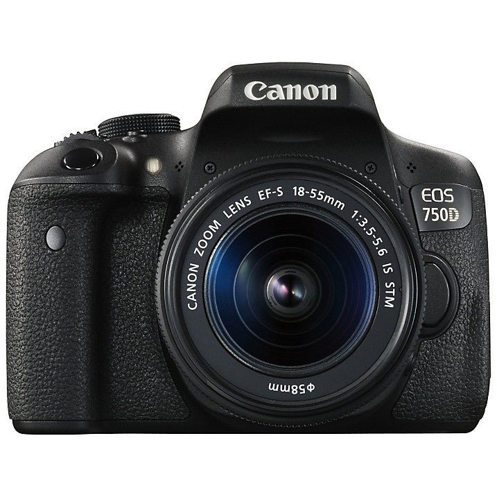 "Canon EOS 750D Digital SLR with 18-55mm IS STM Lens, HD 1080p, 24.2MP, Wi-Fi, NFC, 3.0"" Vari Angle LCD Screen"