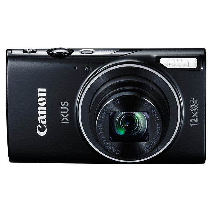 "Canon IXUS 275 HS Compact Digital Camera, 20MP, Full HD 1080p, NFC, Built-In Wi-Fi, 3"" LCD Screen, Black"