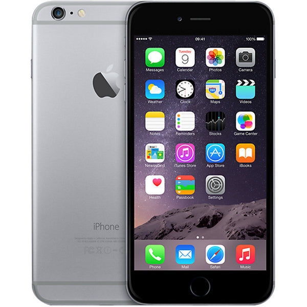 "Apple iPhone 6 Plus, iOS, 5.5"", 4G LTE, SIM Free, 16GB, Space Grey"