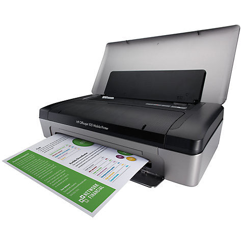 HP Officejet 100 Mobile Wireless Bluetooth Portable Printer