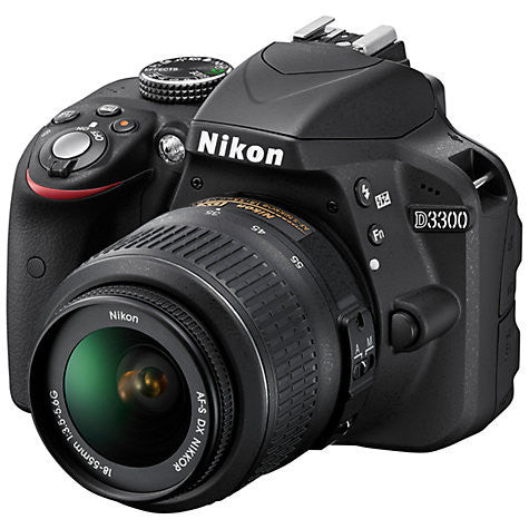 "Nikon D3300 Digital SLR Camera with18-55mm Lens, HD 1080p, 24.2MP, Optical ViewFinder, 3"" LCD Monitor, Black"