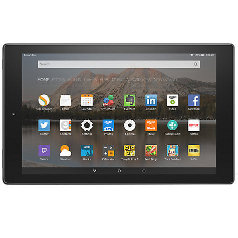 "Amazon Fire HD 10 Tablet, Quad-core, Fire OS, 10.1"", Wi-Fi, 16GB, Black"