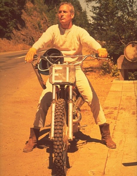 The Photo! – Newman on his dirt bike on the set of Sometimes a Great Notion (1971)