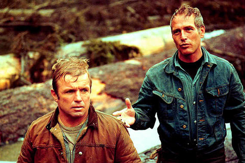 ‍‍‍Paul Newman and Richard Jaeckel who played Newman's brother in Sometimes a Great Notion (1971)