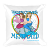 Square Pillow- Undercover Mermaid