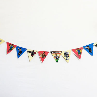 Roblox-Inspired Characters Bunting, Printed on TREE FREE PAPER