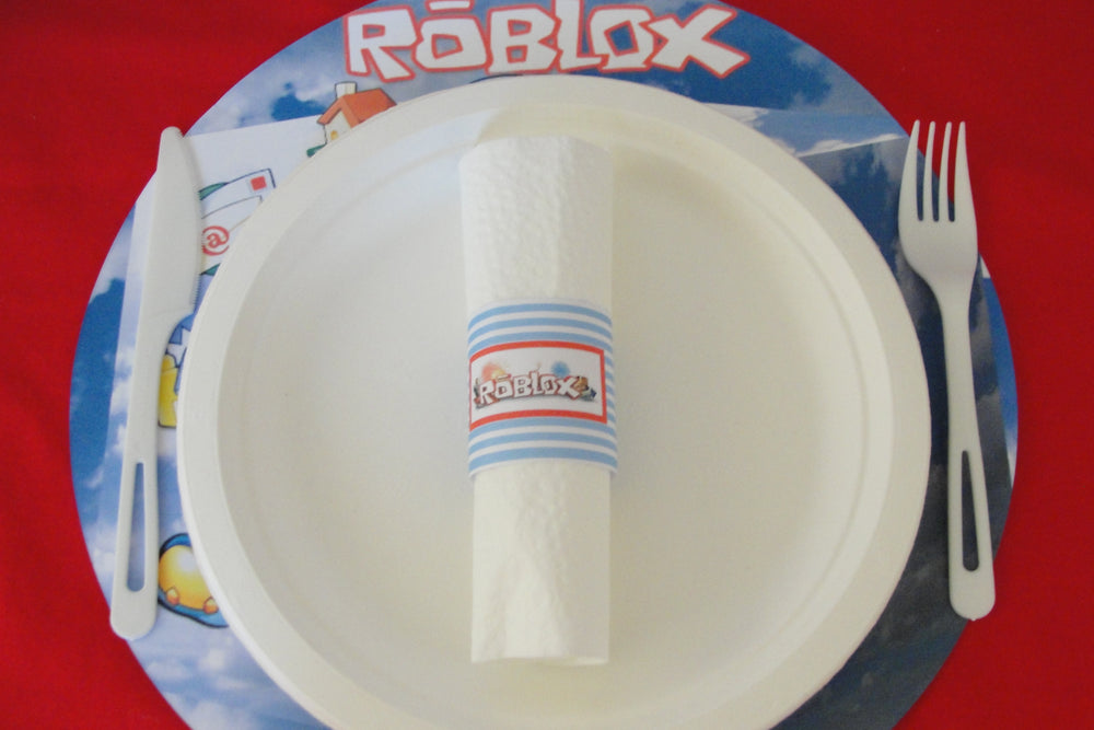 Roblox-inspired Placemats (8-pack, 100% Cotton Paper)