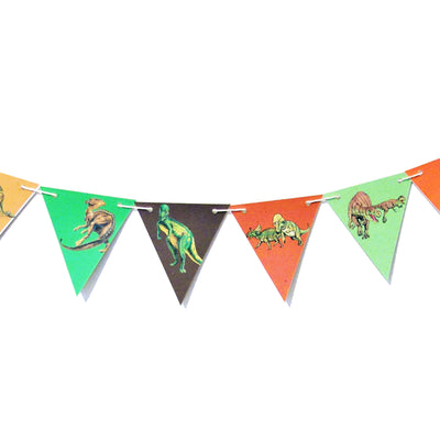 Dinosaur Adventure Characters Bunting, Printed on TREE FREE PAPER