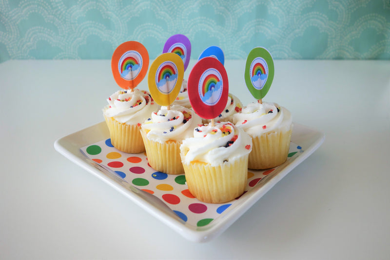 Rainbow Colors Party Picks (12 per pack)