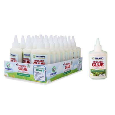 Box of 40 Organic School Glue (3oz Bottles) -- FREE SHIPPING