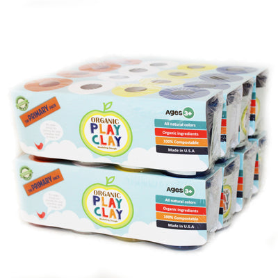 Case of 8 Organic Play Clay (4-Color Pack)