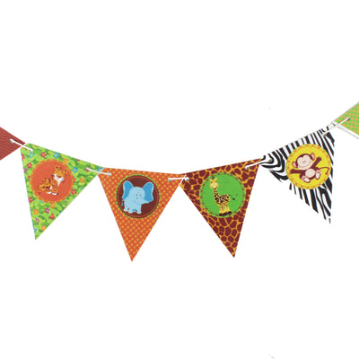 Baby Jungle Characters Bunting, Printed on TREE FREE PAPER
