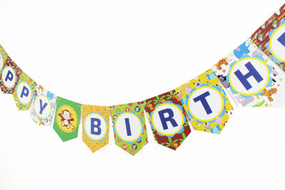 Baby Jungle Happy Birthday Banner (8ft)