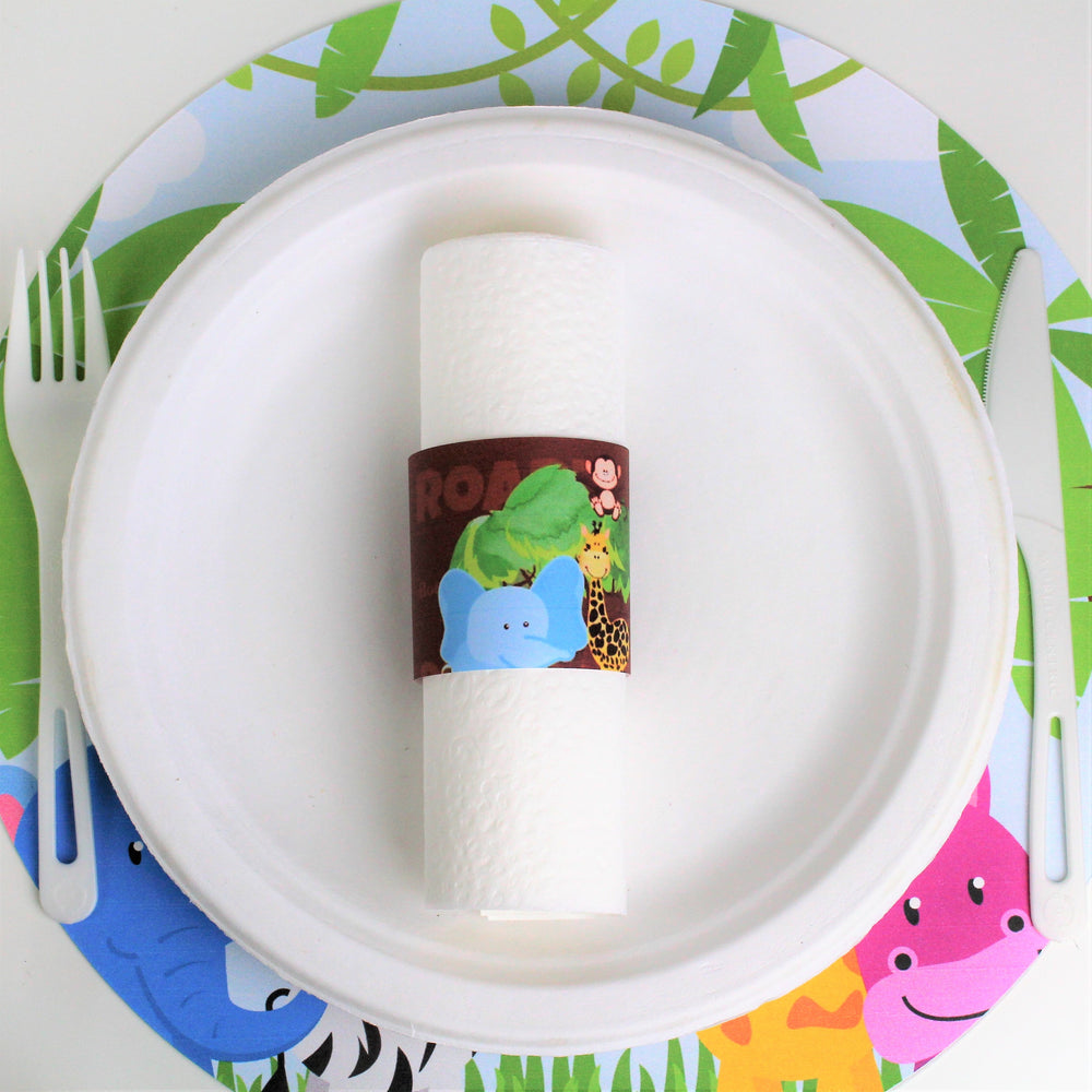 Baby Jungle Animals Tree-Free Paper Napkin Rings