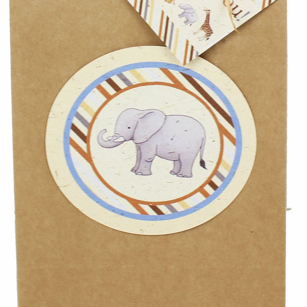 Baby Safari Favor Bag Tags (Six tags, 4-inch) (Bags not included.)