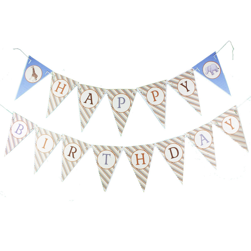 Baby Safari Happy Birthday Banner (8ft)