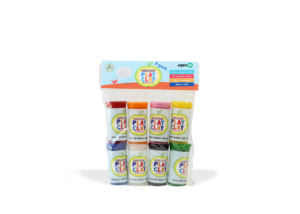Organic Play Clay, 8-Pack