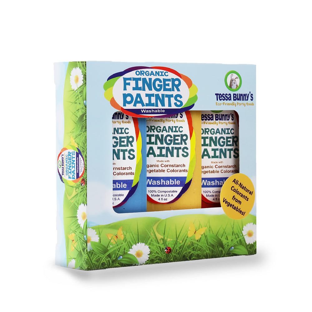 Case of 6 Organic Finger Paints