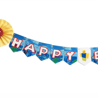 Roblox-inspired Happy Birthday Banner (8ft, Tree-Free Paper)