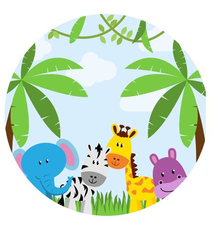 Baby Jungle Placemats (8-pack, 100% Cotton Paper)