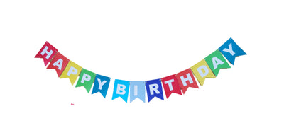 Rainbow Colors Happy Birthday Banner, Rainbow Party (Printed on Tree-Free Banana Paper!)