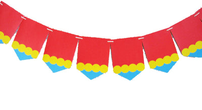 Circus Theme Tree Free Banner (8-ft, printed on Banana Leaf Paper)