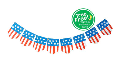 Independence Day 8-ft Banner (Eco-friendly, Compostable)