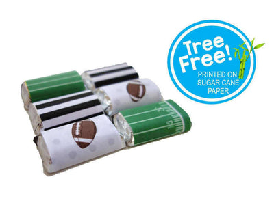 Football Tree-free Mini Chocolate Wraps (24/pack, Sugar Cane Stalk Paper)