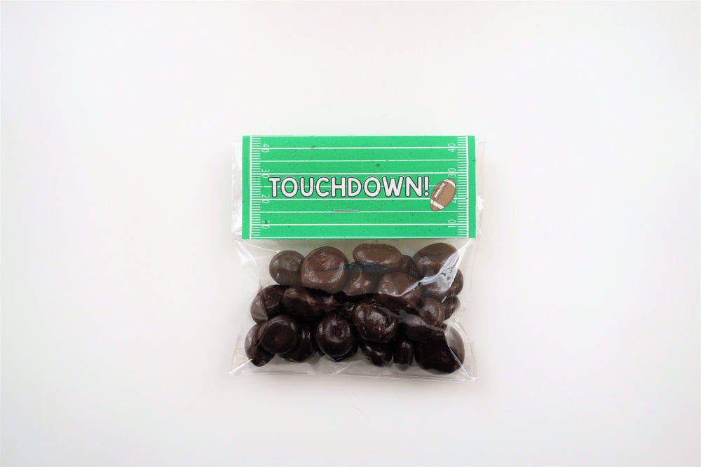 Football Compostable Plant-Cello Treat Bags with Tent Cards (8-pack)