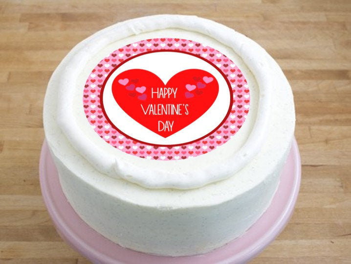 Valentine S Day Cake Topper 6 Inch Round On 100 Recycled Pcw
