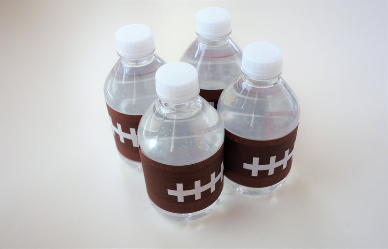 Football Theme Tree-free Water Bottle Wraps (10-pack, Tree-Free Sugar Cane Stalk Paper)