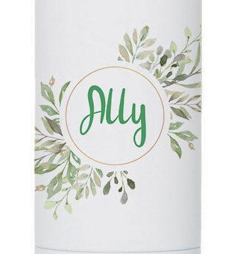 Personalized Watercolor Green Flowers 17oz Stainless Steel Bottle