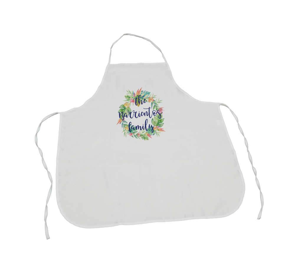 Personalized Flower Wreath apron