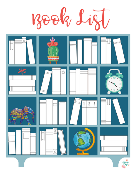 Printable Reading Book List Tracker Letter Bullet Journal