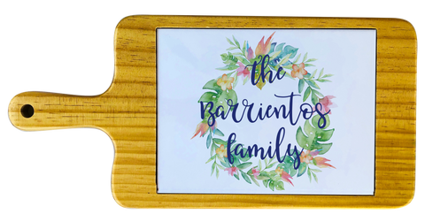Personalized Flower Wreath Cheese board