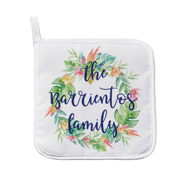Personalized Flower Wreath Pot Holder